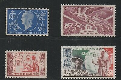St Pierre & Miquelon - French Colonial - 4 Old Stamps Mh ( Spmi 830 )