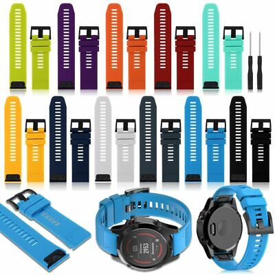 22mm 26mm For Garmin Fenix 3/3 5X Silicone Fitness Replacement Wrist Band Strap