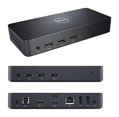 Dell D3100 Ultra HD 4K USB 3.0 Docking Station, 65W PSU - 12 Mth Wty