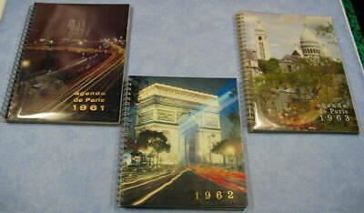 Agenda de Pais Semainier 1961 & 1963 + agenda de France 1962, lot de 3