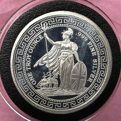 Britannia Chinese Characters 1 Troy Oz .999 Fine Silver Round Collectible Coin