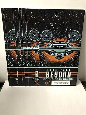Star Trek Beyond Regal Theaters Real D 3D Collectible Movie Ticket Card 2016