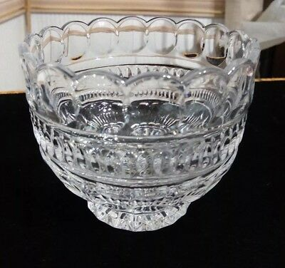 "Vintage  Crystal Scalloped/ Footed  Bowl Candy Dish  Heavy 4""x 5"" EUC"