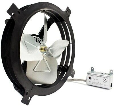 Gibraltar Building Products 1620 CFM Mount Powered Attic Gable Fan