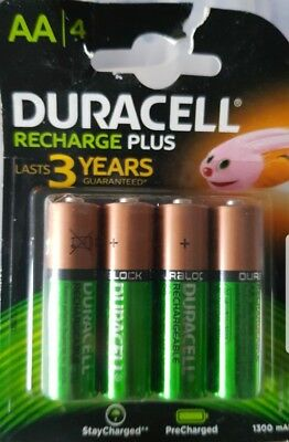 New Duracell Recharge Plus Aa 4  Pack Battery