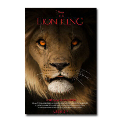 The Lion King - Simba 2019 Hot Movie Art Canvas Poster Print