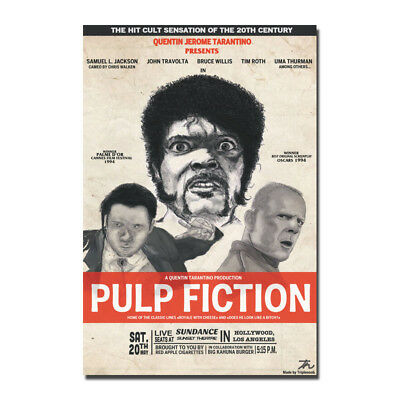 Pulp Fiction 1994 Classic Film Movie Canvas Poster 12x18 32x48 inch