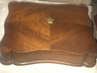 Elegant Old or Antique Wooden Jewelletry Box Curvaceous Form Middle Eastern (?)