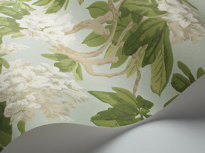 Cole & Son Folie Collection Bourlie Wallpaper 99/4022 Colour Ivory On Duck Egg