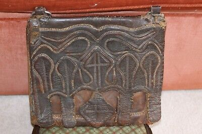 antique leather Ethiopian bag