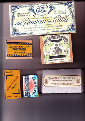 Ww1 French Pack Fillers Wrapper And Boxes Set (Repro)