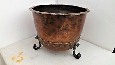 Arts and Crafts Copper Log container by Cooper Leighton