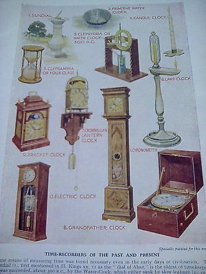 Time Recorders Past & Present Chronometer Clocks Single Page 1950's to frame?