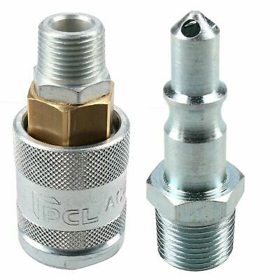 """PCL 60 Series Female Coupler 3/8"""" BSP Male Thread & Male Air Fitting Adaptor"""