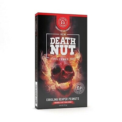 The Death Nut Challenge Version 2.0 World's Hottest Carolina Reaper Peanuts UK