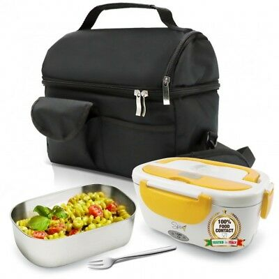 SET BORSA Termica + SPICE Amarillo inox Scaldavivande Lunch Box + Forchetta inox