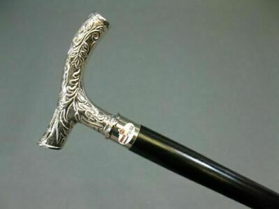 New Silver Polished Best For Gift Brass Solid Vintage Wooden Walking Cane Stick