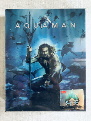 Aquaman Double Lenticular Full Slip Blu-ray Steelbook HDZETA