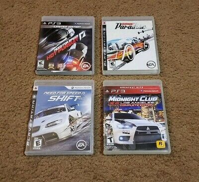 PS3 Racing Games Bundle Burnout Paradise Need for Speed Midnight Club MUST HAVES