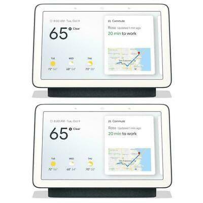 Google Home Hub with Google Assistant (GA00515-US) - Charcoal - 2-Pack