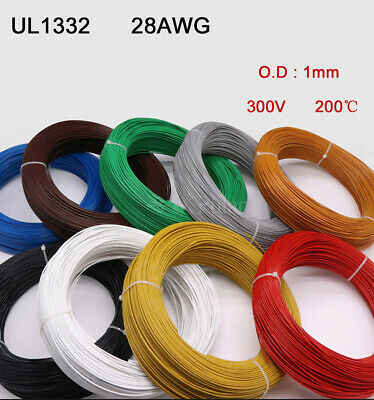 Polytetrafluoro UL1332 28AWG Stranded Electronic Wire FEP Tinned Copper Cable