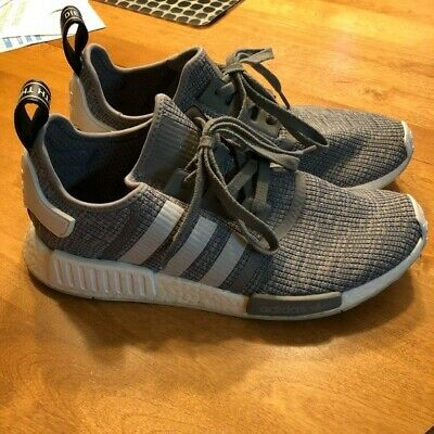 df5c2e8ac96d6 Adidas NMD R1 Solid Grey White Black Boost PK Mens Size 10.5 Rare BB2886