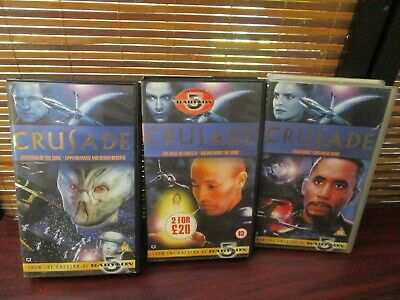 Crusade VHS Video Tapes Set of Three Sci Fi Videos