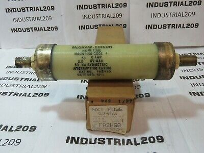 McGRAW EDISON NX FUSE FA2H50 5.5KV 50 AMP NEW OLD STOCK