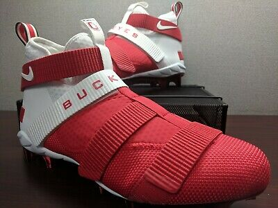 3e363dcd7 Nike Lebron Soldier 11 TD Football Cleats Ohio State Buckeyes Size 13  AO9146-161