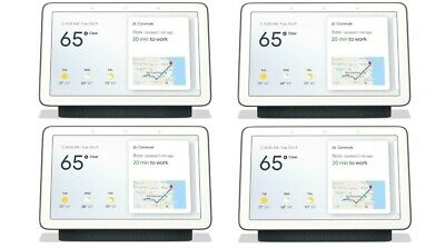 Google Home Hub with Google Assistant (GA00515-US) - Charcoal - 4-Pack