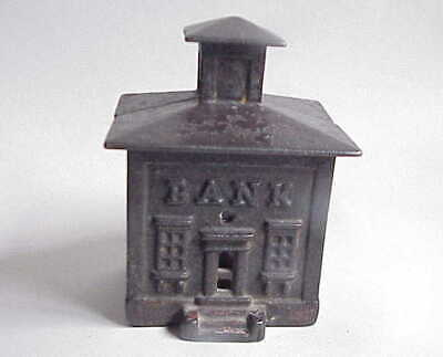 Small Antique Cast Iron Bank Savings Bank