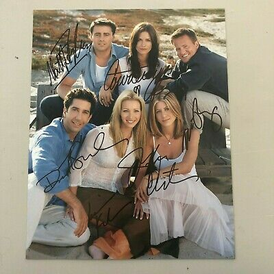 Friends Cast Signed 8x10 Photo Cox Aniston LeBlanc Kudrow Perry Schwimmer NO COA