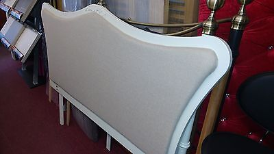 Antoinette Headboard - Ivory/Natural King Size Solid Wood RRP £299