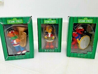 3 Kurt S. Adler Sesame Street Christmas Tree Ornament Holiday Decoration