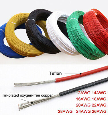 UL1332 Teflon Stranded Electronic Wire 12AWG-28AWG Tinned Copper FEP Insulation