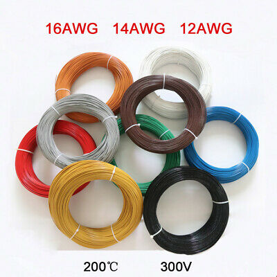 UL1332 Teflon Stranded Electronic Wire 16 14 12AWG Tinned Copper FEP Insulation