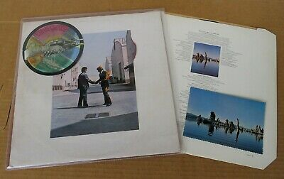 PINK FLOYD Wish You Where.. LP 1st UK Press! Harvest! 1975 + PostCard! Stupendo!