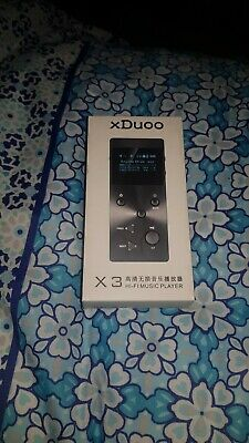 XDUOO X3 DIGITAL MP3 RECHARGEABLE AUDIO HIFI LOSSLESS SD MUSIC PLAYER in black