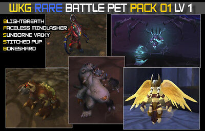 World of Warcraft Battle Pet Rare Pack #01- x5 pets  lvl 1 /All US Server