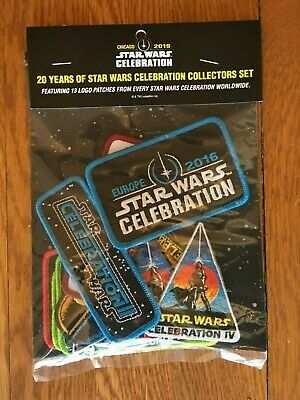 2019 Star Wars Celebration Chicago EXCLUSIVE 20th Anniversary 13-Patch Set
