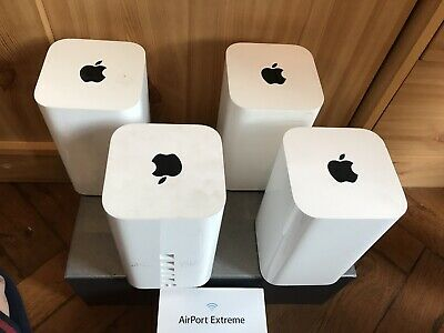 All 4pcs package apple airport extreme with 4 pcs wall air mount.