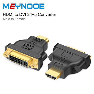 Dual-Link DVI-I 24+5 DVI-D 24+1 DVI Female to HDMI Male Adapter Cable Converter