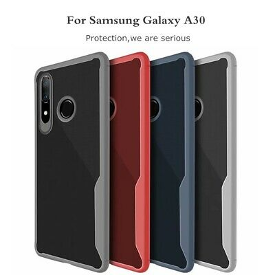 For Samsung Galaxy A50 A30 A10 M20 Shockproof Ultra Slim Rubber Clear Case Cover