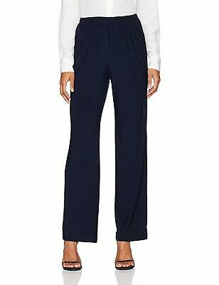 New $199 R&M Richards Womens Blue Pull-On Straight-Leg Fit Trouser Pants Size 16