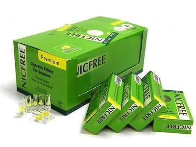 New NicFree Premium Disposable Cigarette Filters - 20-Packs 600 Filters LESS TAR