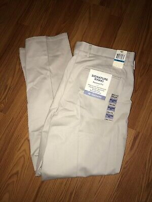 NWT Dockers Best Pressed Taupe Signature Khaki Pants Performance Stretch 36 x 34