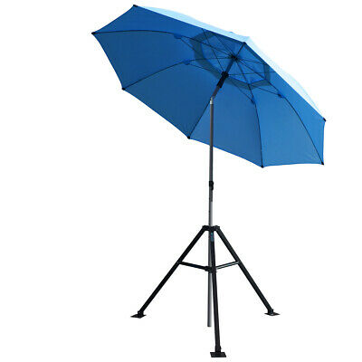 Revco Black Stallion Core Flame-Resistant Industrial Umbrella & Stand UB250 Blue