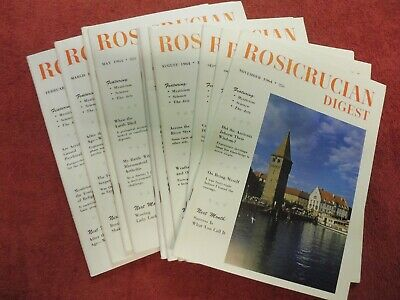 Rosicrucian Digest.monthly Rosicrucian Society magazine 1964 complete year.