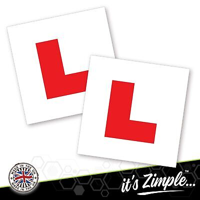2 X LEARNER STICKER L Plate Stickers Legal Learner Driver Sticker Self Adhesive