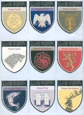 """Complete The Houses Set H1-H9"" Game Of Thrones Season 1 Stark Lannister"